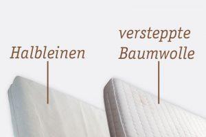 Bezuege aus Halbleinen oder Baumwolle