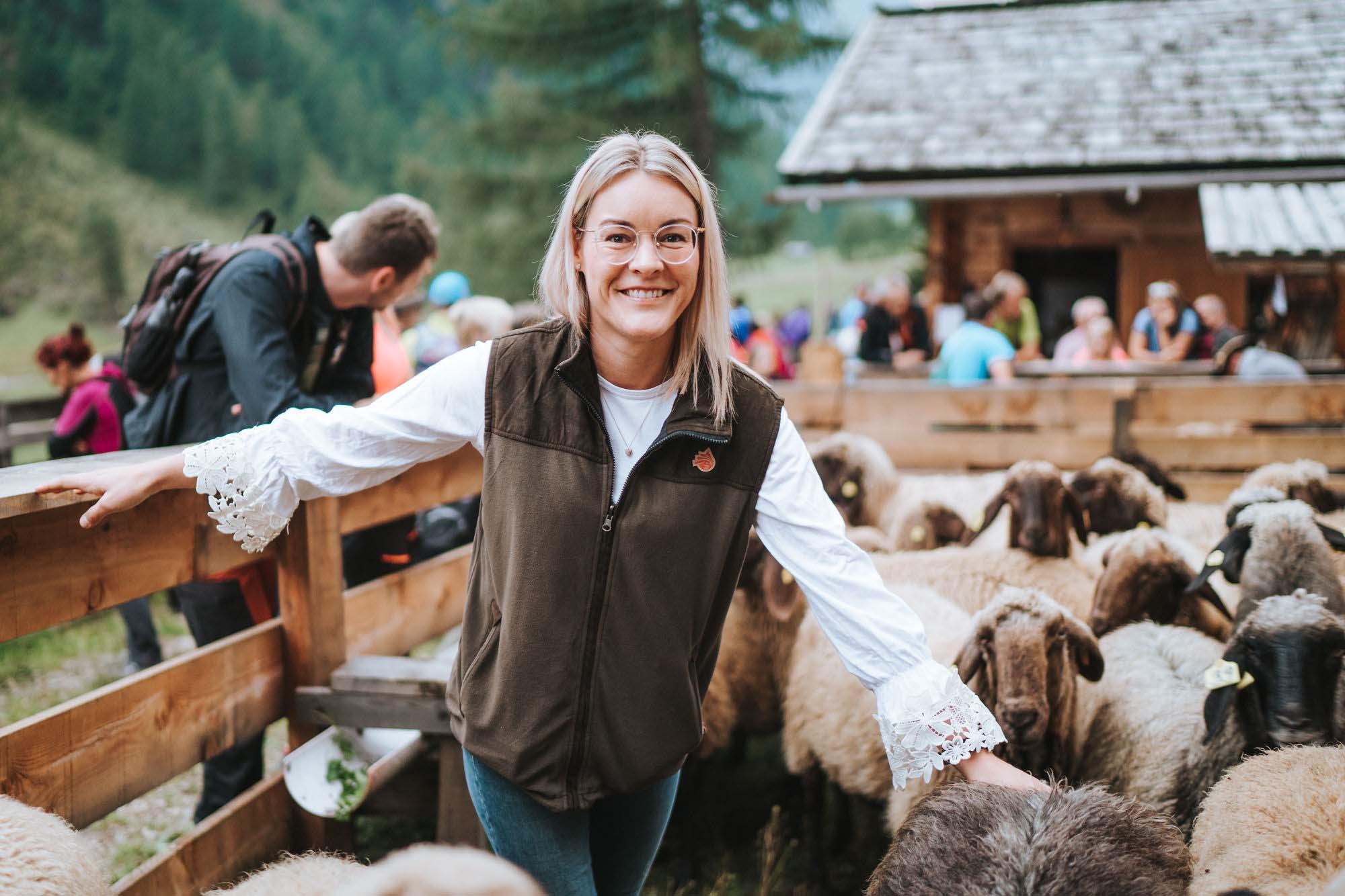 Rebecca Schett bei den Schafbauerntagen